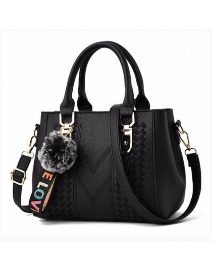 Hafty Messenger torby damskie torebki skórzane torebki damskie 2020 Sac a Main Ladies włochata piłka torebka