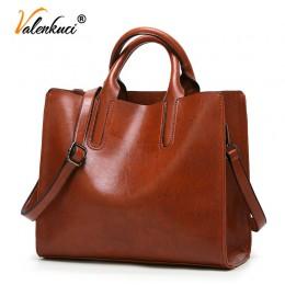 Torebki skórzane Valenkuci duże torebki damskie wysokiej jakości torebki kobiece Trunk Tote torba na ramię znanej marki panie Bo