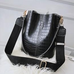 Vintage skórzany wzór z kamieniem Crossbody torby dla kobiet 2020 nowa torba na ramię moda torebki i portmonetki Zipper wiadro t
