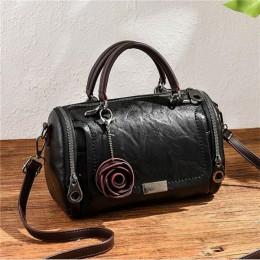 Moda damska torba na ramię z wisiorek kwiat torby damskie na zakupy kopertówka bostońska torebka na co dzień kobiece torby kurie
