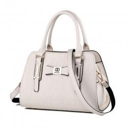 Gorąca sprzedaż moda kobiety skórzana torebka pochylona kobieca kokarda torebki na ramię torebki pani torba na ramię na zakupy m