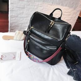 Retro duży plecak kobiet plecak ze skóry PU kobiet plecak podróży plecaki torby szkolne na ramię Mochila plecak XA96H