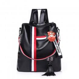 Torebki damskie 2020 nowych moda retro zamek panie plecak PU skóra wysokiej jakości plecak torba na ramię dla młodzieży torby