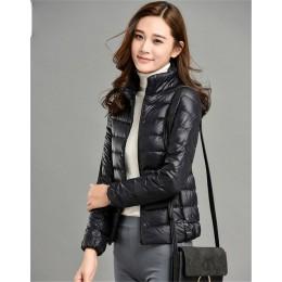 Plus rozmiar 4XL 5XL ultra lekka puchowa kurtka bawełniana kobiety 2019 moda streetwear kurtka baseballowa zima dorywczo wiatros