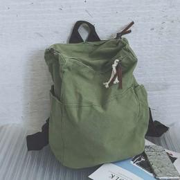 TTOU jednolity kolor o dużej pojemności plecak podróżny Laptop płótno kobiet plecak kobiet tornister dla nastolatków dziewczyny