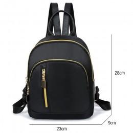 Plecak damski styl Preppy plecak damski z nylonu wysokiej jakości torby na ramię torba studencka czarny plecak A2217