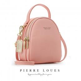 YIZHONG skórzany Mini plecak torebka dla kobiet panie Bookbag wielofunkcyjny luksusowa torba na ramię Messgner torby Mochila Fem