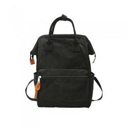Sztruksowe plecaki dla kobiet 2020 moda zima Casual Style panie jednolity kolor plecak kobiet nastolatki dziewczyny plecak szkol