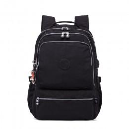 TEGAOTE plecaki szkolne damskie z zabezpieczeniem przeciw kradzieży plecak z ładowarką usb męskie plecak na laptopa torby szkoln