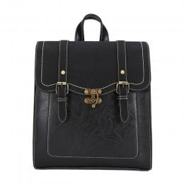 Vintage kobiety plecak wysokiej jakości skórzana marka kobieta czarna torba na ramię pani wielofunkcyjny plecak Hot School Bags
