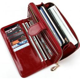Skórzane portfele damskie torebki damskie moda długi zamek błyskawiczny portfel damski pieniądze etui na monety długa portmonetk