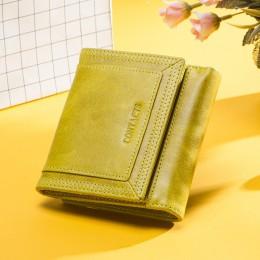 Contact's Large Capacity Women portfele skórzana torebka na monety dla dziewczynek mała portmonetka etui na karty kredytowe dams