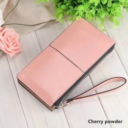 Nowe portfele damskie długie cukierki lśniąca skóra portfel codzienna kopertówka nowe mody torebka damska torebka damska portmon