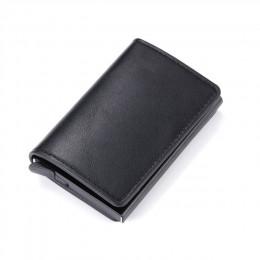 Aluminium Metal Credit Business Mini portfel na karty 2020 Dropshipping mężczyzna kobiet inteligentny portfel wizytownik Hasp Rf