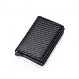 DIENQI Top Quality portfele męskie portfel Mini torebka mężczyzna Vintage brązowa skórzana karta rfid portfel z uchwytem mały in
