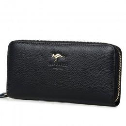 Kangaroo brytania luksusowe kobiety portfele prawdziwej skóry Pusre marki portfel panie sprzęgła