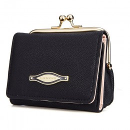 CHALLEN kobiety portfel z zatrzaskiem moneta kiesa portfel kobieta PU skóra kobiety portfele kobieta Vintage Fashion portfel mał