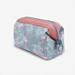 Nowy stylowa kosmetyczka kobiety wodoodporna Flamingo torebki na makijaż organizator podróży zestawy toaletowe przenośne akcesor