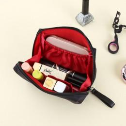 UOSC solidna kosmetyczka torebka w stylu koreańskim kobiety torebki na makijaż etui kosmetyczka wodoodporna organizator na przyb