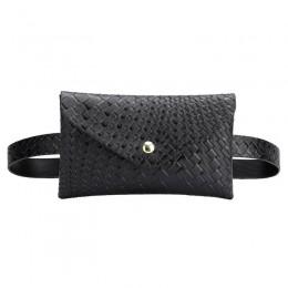 Jednokolorowe torebki damskie na ramię saszetki na pas Fanny paski etui na telefon kobiety PU Leather Crossbody Casual Messenger