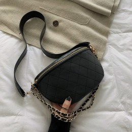 Nowy łańcuszek na talię torba damska skórzana nerka kobiety piterek Zipper torba na biodro o dużej pojemności torba bananowa pas