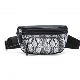 Serpentyn moda damska talia pakiety krótkie dziewczyny torba z paskiem do zawieszenia na piersi Zipper saszetka na pasek dla kob