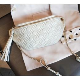 BRIGGS piterek dla kobiet talia torba oryginalna skórzana nerka torebka moda pasek na pieniądze moda damska łańcuch torby na ram