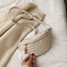 Dorywczo torba na klatkę piersiową dla kobiet 2020 Crossbody torby Tassel torba na ramię kobieta moda torebki i portmonetki tali