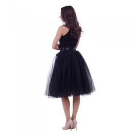 5 warstw 65cm lato spódnice vintage kobiety elastyczny, wysoki talia tiulowa suknia plisowana spódniczka tutu kobiety Saias midi