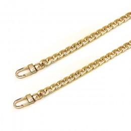 100/110/120cm aluminium metalowy łańcuch DIY wymiana pasek do torby na ramię łańcuch złoty srebrny torebka uchwyty akcesoria do