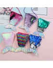 Syrenka cekiny ogon monety kiesy dla dzieci dziewczyny moda kształt zwierząt mini na ramię torba na suwak monety kiesy dla dziec