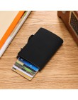 BISI GORO 2020 Unisex karta rfid portfel z uchwytem Vintage portfel na karty Slim Pop Up biznes portfel karta antykradzieżowa Dr
