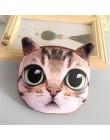 Kot kreskówkowy torebka na monety dzieci portfel zamek pies dziewczyny torebka 3D drukuj ładny portfel dzieci mała portmonetka M