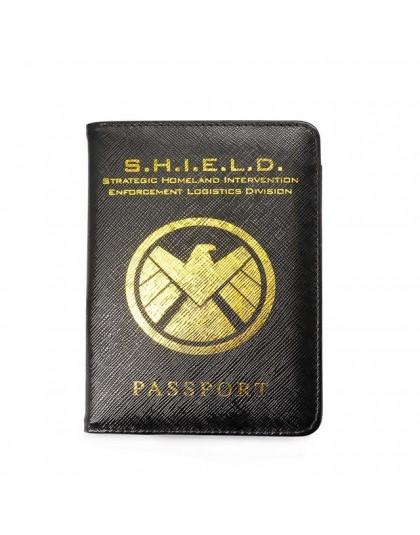 Marvel Avengers okładka na paszport Rfid blokowanie skórzane etui na paszport Hydra wielofunkcyjna tarcza paszport podróże Case