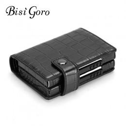 BISI GORO 2020 aluminiowy portfel etui na karty kredytowe Metal z blokadą RFID portfel wielofunkcyjny metalowy futerał podróżny