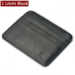 Moda oryginalne skórzane etui na karty bankowe cienki Mini portfel na karty mężczyźni identyfikator firmy etui na karty kredytow