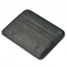 Nowy prawdziwy magiczny skórzany portfel portfel kredytowy portfel mini wąski portfel karta i etui na identyfikator mężczyzna ko