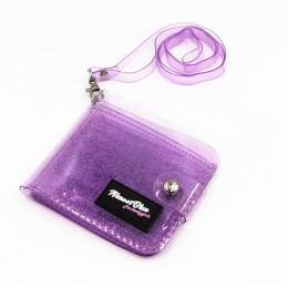 2019 nowe przezroczyste etui na dowód osobisty portfel składany PVC moda kobiety dziewczyna biznes etui na karty torebka ze smyc