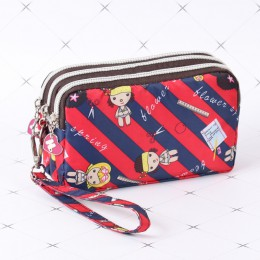 Cartoon kobiety moneta kiesa sprzęgła portfel na nadgarstek torba klawisz telefonu sprawa kosmetyczka panie etui na karty kredyt