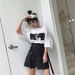 2019 lato ogień vestidos de fiesta de noche sexy vintage pokemon bf Harajuku styl był cienki wysoka talia słowo spódnica kobiet