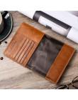 Nazwa grawerowanie mężczyzn portfele Slim 100% oryginalna skóra bydlęca portfel na karty cienkie rocznika wysokiej jakości posia