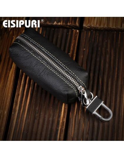 EISIPURI oryginalne skórzane etui na klucze etui kobiety brelok klamra magnetyczna etui na klucze mężczyźni brelok organizer do