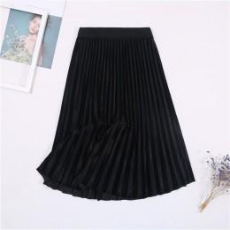 2019 nowy jesień zima wysokiej spódniczka z wysokim stanem chudy kobiet aksamitna spódnica długie plisowane spódnice koreański s