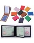 Jednolita obudowa do dokumentów jazdy samochodem PU prawo jazdy uchwyt dokumenty Folder biznesowy pokrowiec w stylu portfela wiz