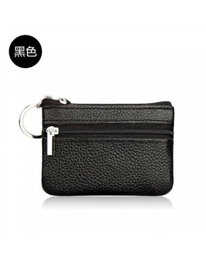 2019 kobiet skórzane monety klucz do torebki uchwyt portfel na zamek torba typu worek torebka nowy marka mężczyźni miękkie orygi