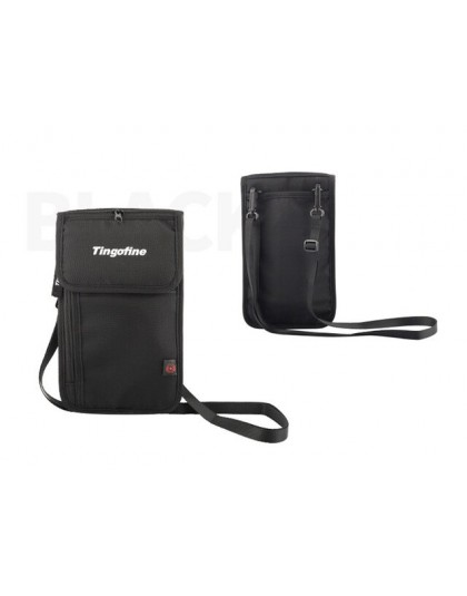 Travel Neck Ultra wąski portfel etui na paszport RFID blokowanie saszetka na pieniądze, skrytka bezpieczeństwo dla mężczyzn kobi