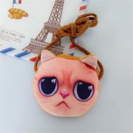 3D zwierząt dzieci torebki dziewczyna śliczny mały kot Mini Messenger torby moda pies kształt torba na ramię dziecko Kawaii etui