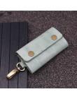 Handmade prawdziwy skórzany na klucze portfel mężczyźni uchwyt brelok etui torebka Zipper projektant gospodyni samochód małe etu