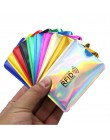 Srebrny Laser Aluminium anty portfel Rfid blokowanie czytnik blokada pojemnik na kartę bankową ID etui na karty bankowe ochrona