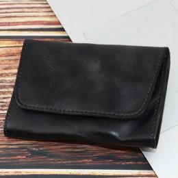 2019 oryginalne skórzane etui na karty mężczyźni kobiety Vintage Handmade krótkie etui na karty kredytowe Coin torebka Case mały